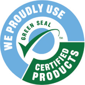 We Proudly Use Green Seal Certidied Products